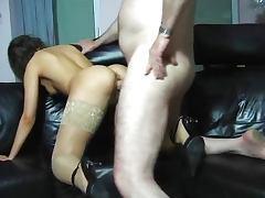 Nice one in stockings makes hum cum