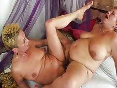 Chubby and old lesbian fun