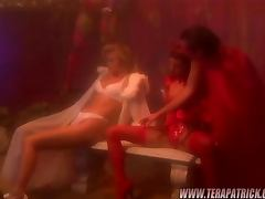 Two gorgeous babes Lola and Sandie are fucking hard with this dude