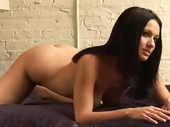 Corin Riggs the slim brunette makes hot nude show