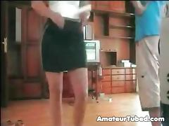 Wife plays strip wii