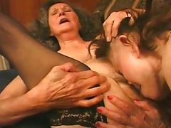 Amazing mature grannies foursome porn video