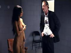 Horny scene in the interrogation room