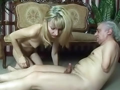 Blonde Suzi fucking with old man porn video