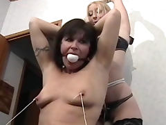 Mature BDSM video with a hot mils