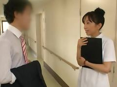 Insatiable Japanese nurse makes her patient recover