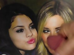 Ashley Tisdale and Selena Gomez Cumshot