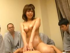 Oily Teen Rides Her Masseuse While She's Being Watched