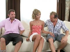 A Rough Threesome For the Slim Blonde Ioana