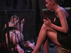 2 smoking hot chicks into bondage and foot fetish