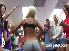 Group of horny girls banging on college
