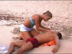 Beach, Babe, Beach, Blonde, Cum, Horny