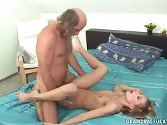 Introducing Jenevieve with an old man eating her pussy