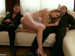 Two Dicks are Roxie's Private Service for Anal Intercourse