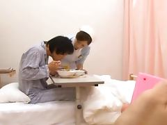 Japanese kinky nurse is having fun in hospital