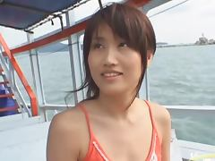 Busty Asian Slut Nayuka Mine Getting Penetrated in a Boat