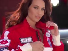 AJ Alexander is a symbol of a car race show