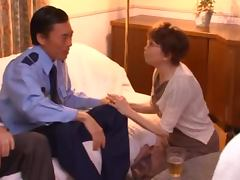 Gorgeous Japanese Babe Chihiro Akino Rides and Blows