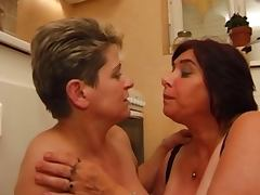 Old chubby french mature with big tits
