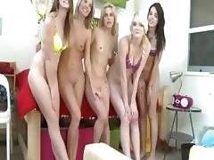 Horny college girls riding on real penis
