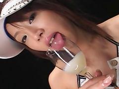 Bunko Kanazawa Cum Swallowing Bukkake