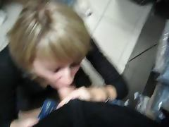 blowjob in storeroom