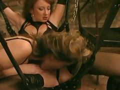 Two woman in bdsm lesbian girl on girl lesbians