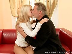 Men Are Never Too Old For This Freaky Blonde Chick