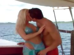 Interracial Foursome with Horny Blonde European Sluts on a Vessel