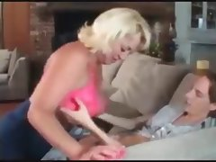 stiflers mum seduces young guy and destroys him on the sofa