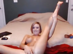 Busty Babe Plays her Pussy for Hot Penis HD