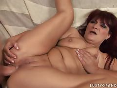 Mature bitch Ula moans loudly while getting her ass pounded