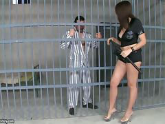 Anal Sex For Officer Lombard With A Horny Inmate