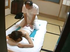 Reia Miyasaka Recieves a Kinky Massage on the Floor