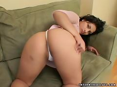Big assed cutie Victoria Lan gets her pussy fucked every which way