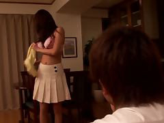 Devious Housewife Akari Minamino Strips For a Wild Night