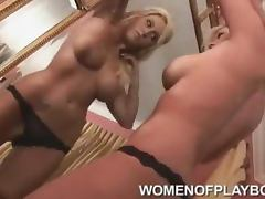 Celeste DiMarco enjoys her tits in the mirror porn video