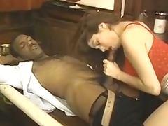 Busty retro wife interracial bj