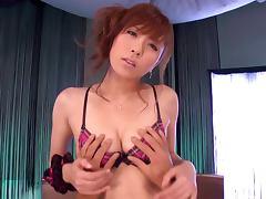 Rin Sakuragi Gives a POV Show Teasing a Hard Dick in Her Lingerie