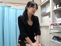 Slutty Japanese girl sucks a cock and gives a titjob in POV