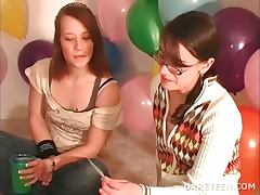 Party coeds play truth or dare sexgame