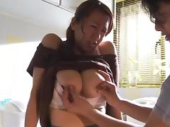 Mature Housewife Rika Fujishita sucks it for good