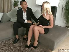 Some Blonde Whore Gets Her Pussy Fucked