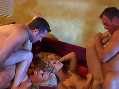 Angelina Armani and Tanya James are fucking in the foursome