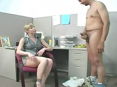Bossy bitch bites cock and balls