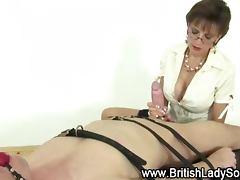 Femdom british milf blowjob