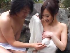 Sayuki Kanno gives a titjob and gets her wet pussy pounded