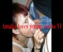 Amalia loves young cocks VI a compilation