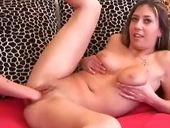 Sylvi Black the naughty brunette fists herself and gets fisted