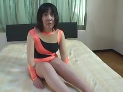 Japanese milf moans loudly while getting her meaty pussy drilled